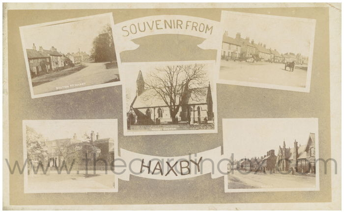 Postcard front: Souvenir From Haxby