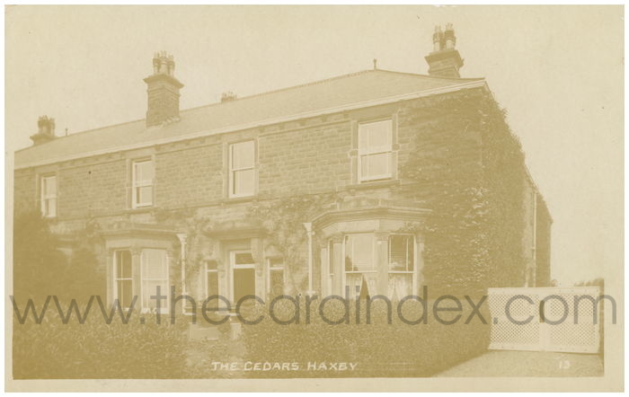 Postcard front: The Cedars Haxby