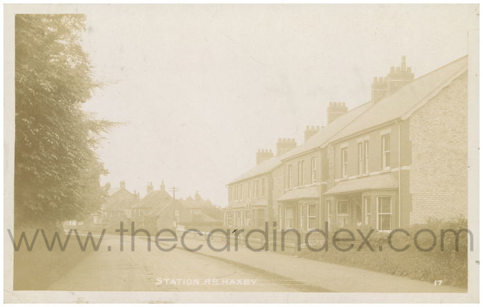 Postcard front: Station Rd. Haxby