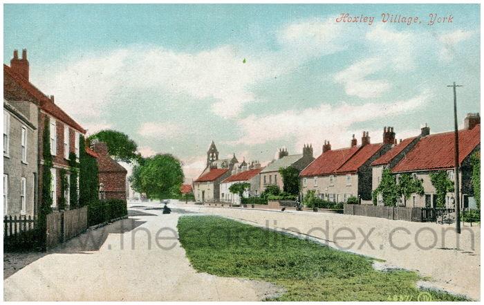 Postcard front: Hoxley Village