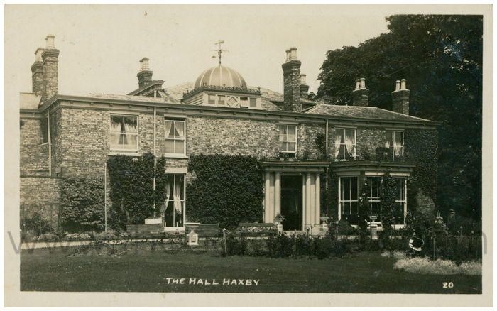 Postcard front: The Hall Haxby