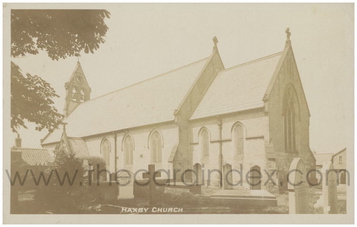 Postcard front: Haxby Church