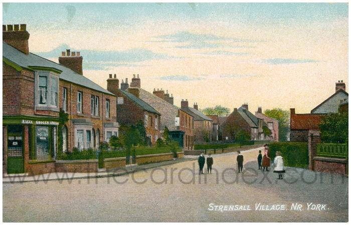 Postcard front: Strensall Village, Nr. York.