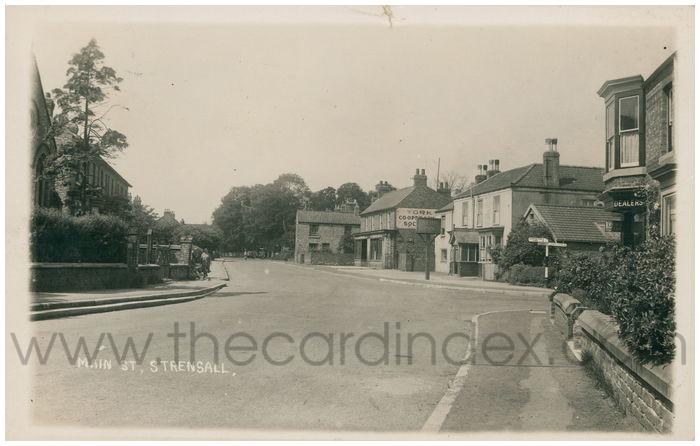 Postcard front: Main St. Strensall