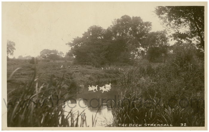 Postcard front: The Beck Strensall