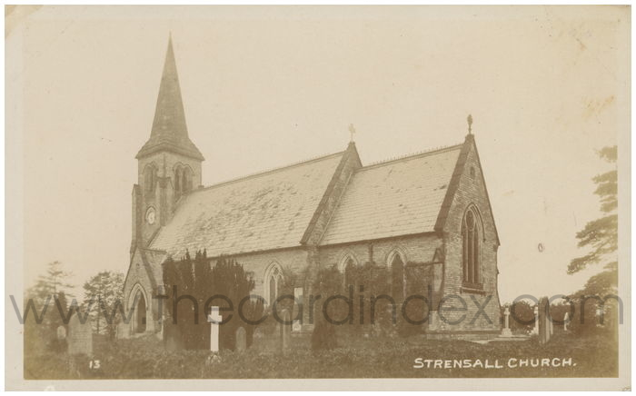 Postcard front: Strensall Church