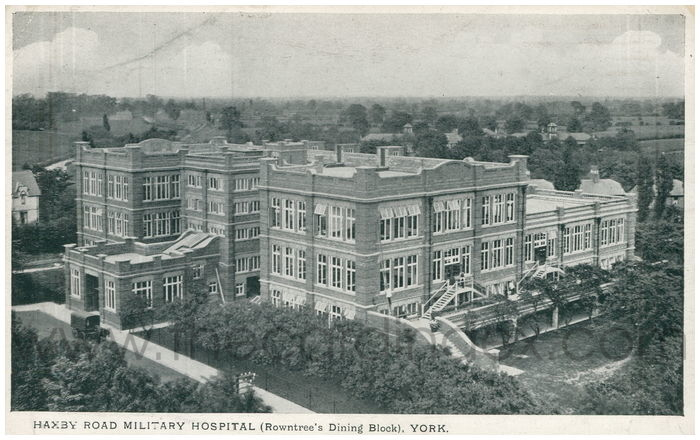 Postcard front: Haxby Road Military Hospital (Rowntree's Dining Block), York