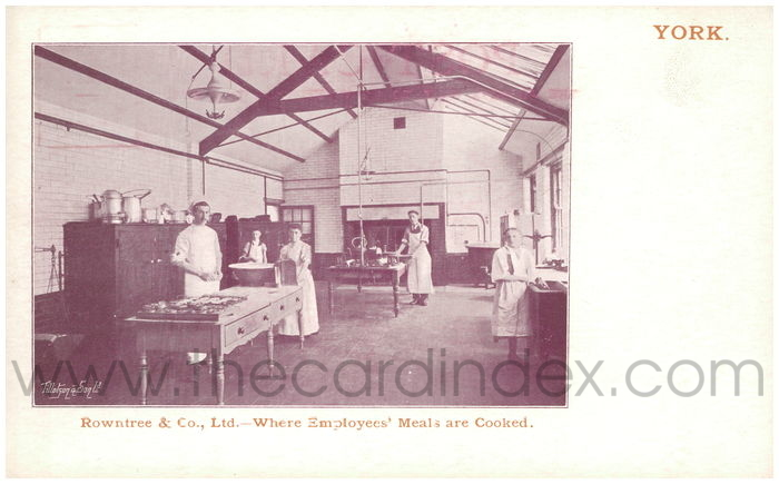 Postcard front: Rowntree & Co., Ltd. - Where employees' Meals are Cooked