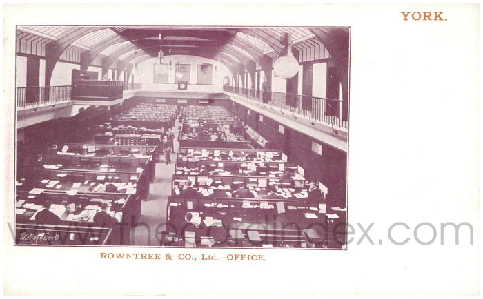 Postcard front: Rowntree & Co., Ltd. - Office