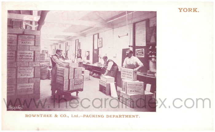 Postcard front: Rowntree & Co., Ltd. - Packing Department