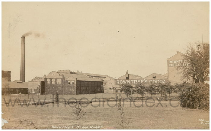 Postcard front: Rowntree's Cocoa Works