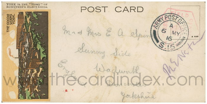 Postcard front: York is the