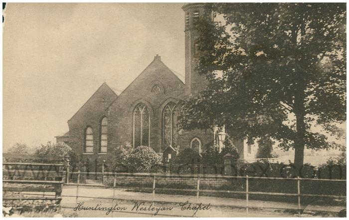 Postcard front: Huntington Wesleyan Chapel