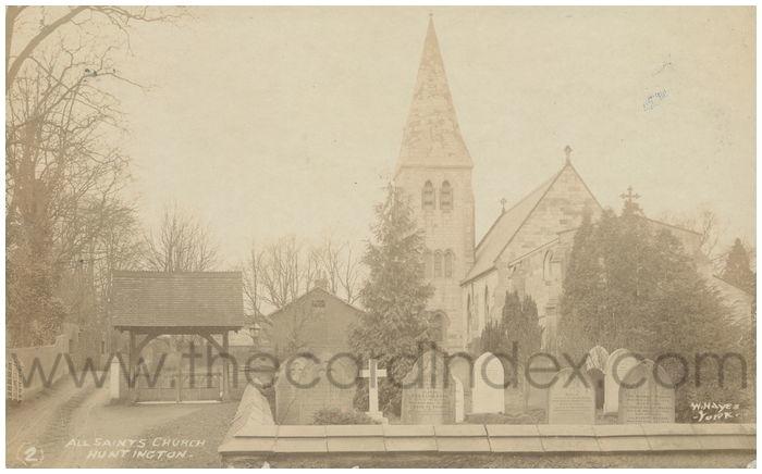 Postcard front: All Saints Church Huntington