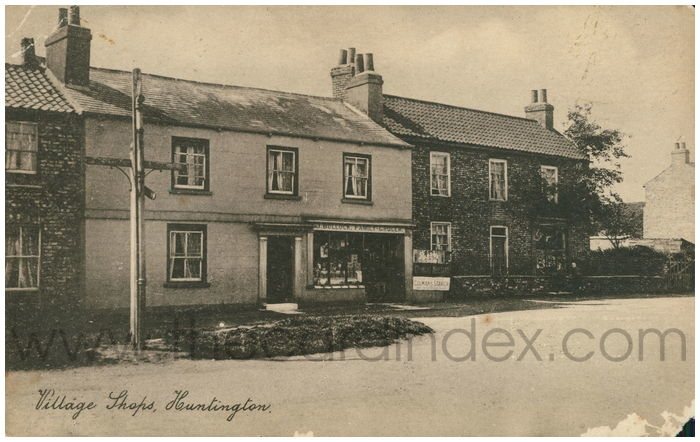 Postcard front: Village Shops, Huntington