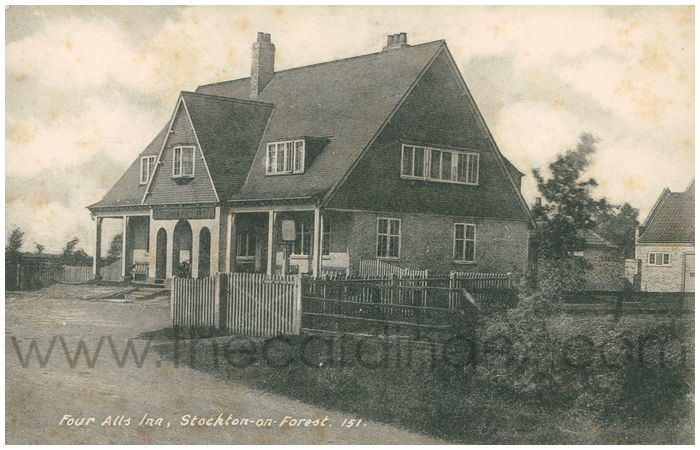 Postcard front: Four Alls Inn, Stockton-on-Forest