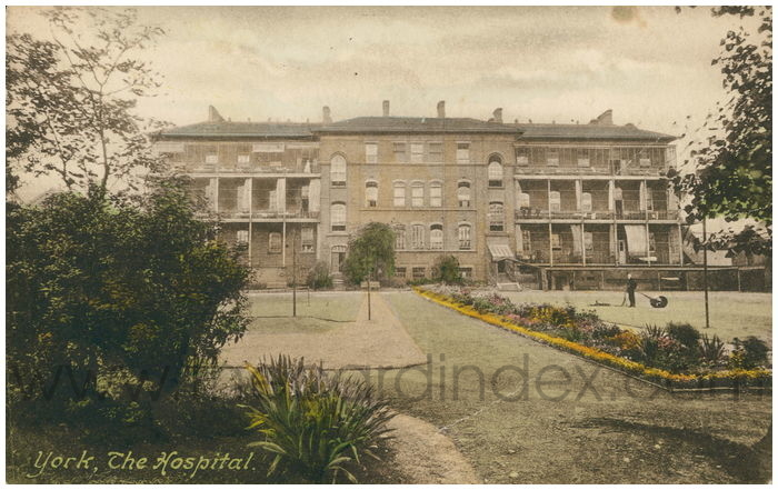Postcard front: York, The Hospital
