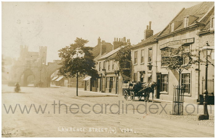 Postcard front: Lawrence Street, (4) York
