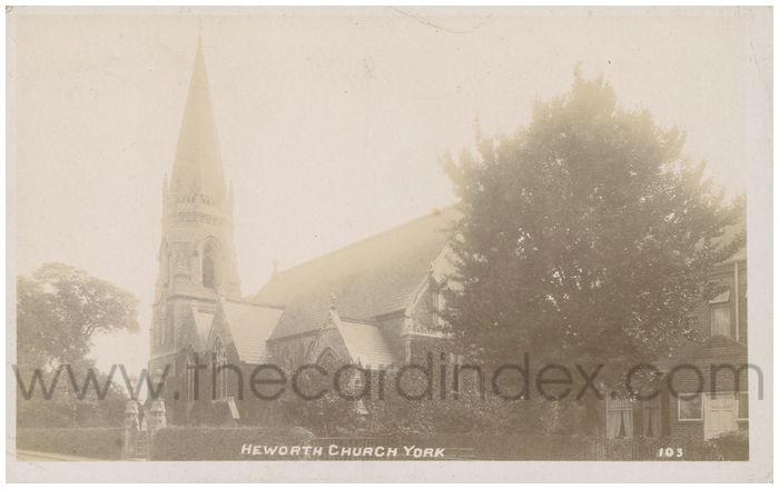 Postcard front: Heworth Church York