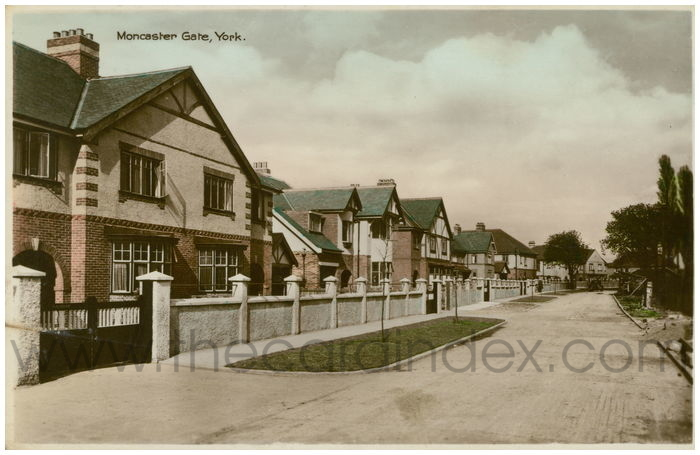 Postcard front: Moncaster Gate, York