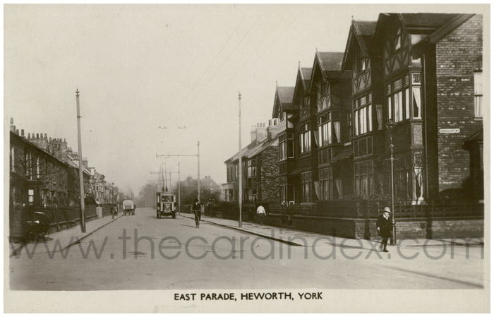 Postcard front: East Parade, Heworth, York