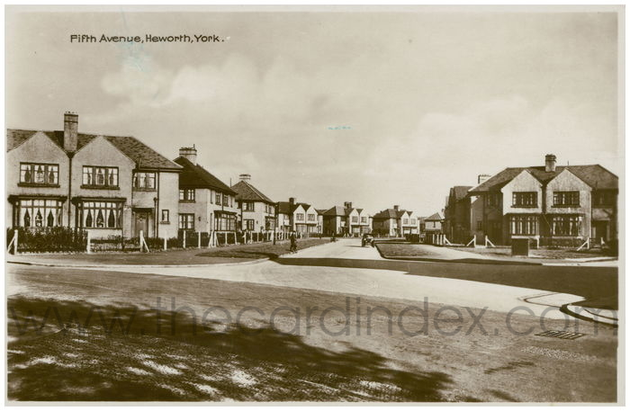 Postcard front: Fifth Avenue, Heworth, York