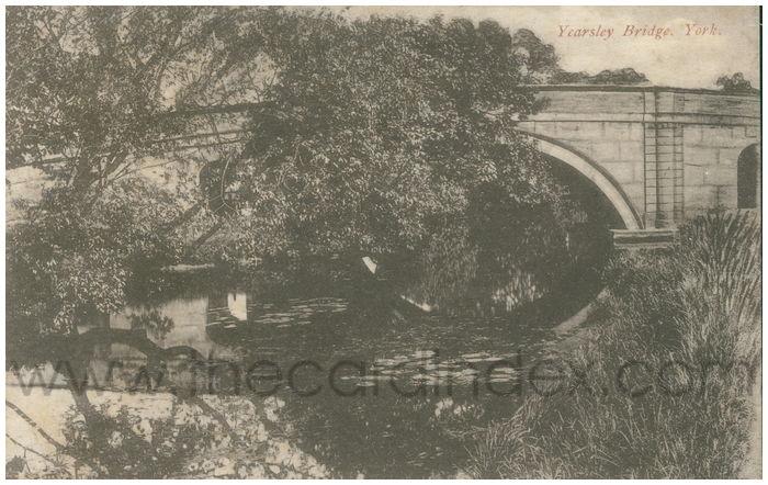 Postcard front: Yearsley Bridge, York