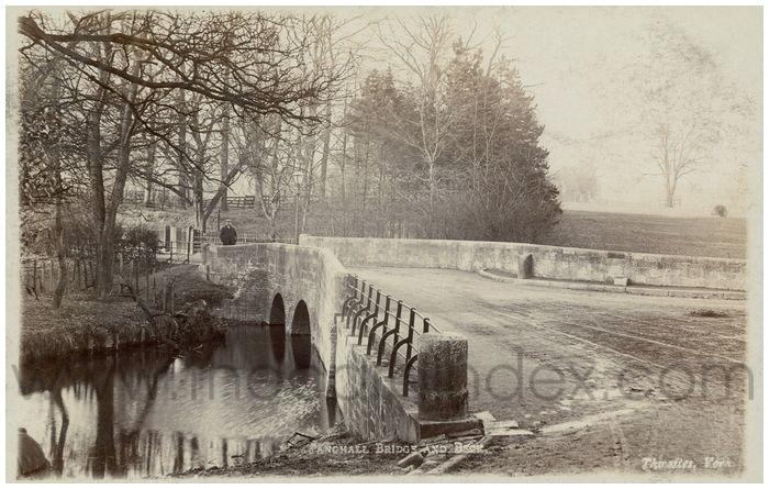 Postcard front: Tang Hall Bridge and Beck