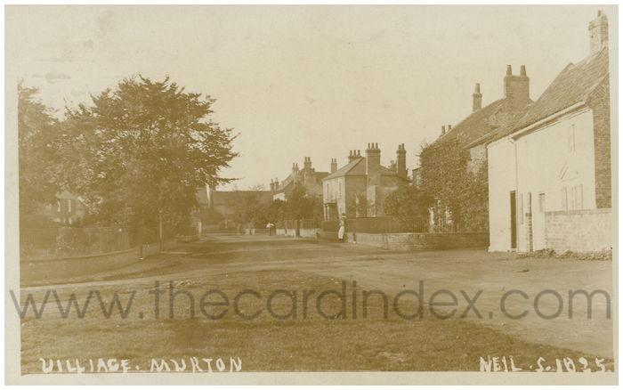Postcard front: Village. Murton