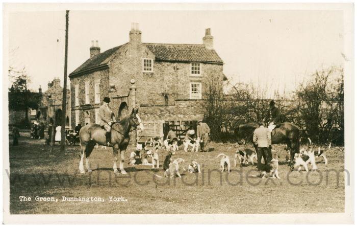 Postcard front: The Green, Dunnington, York
