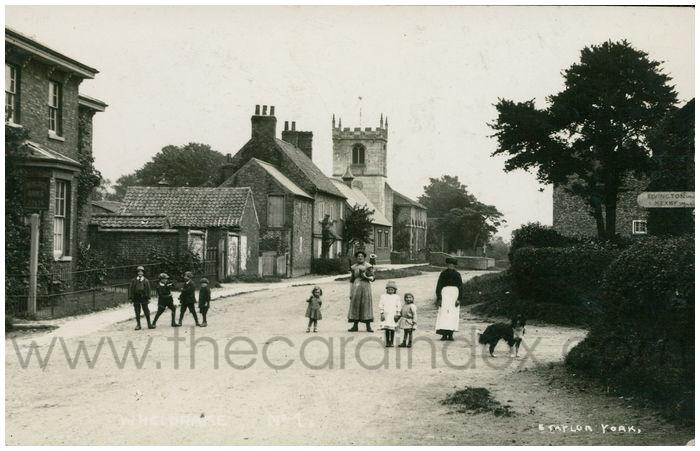 Postcard front: Wheldrake