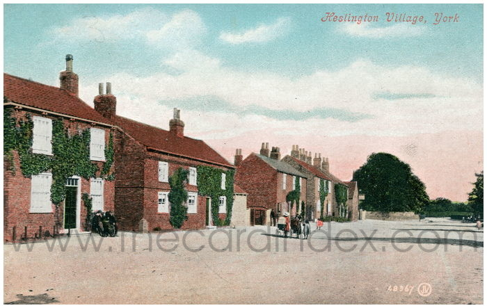 Postcard front: Heslington Village, York