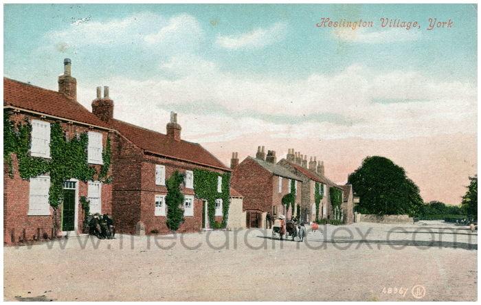 Postcard front: Heslington Village, York