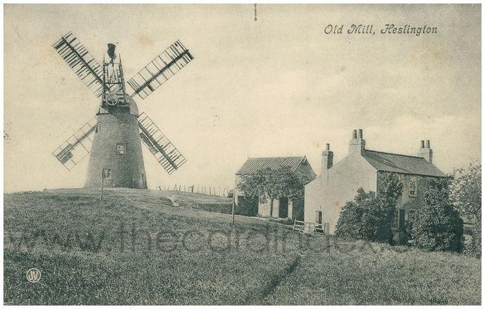 Postcard front: Old Mill, Heslington