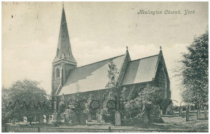 Postcard front: Heslington Church, York