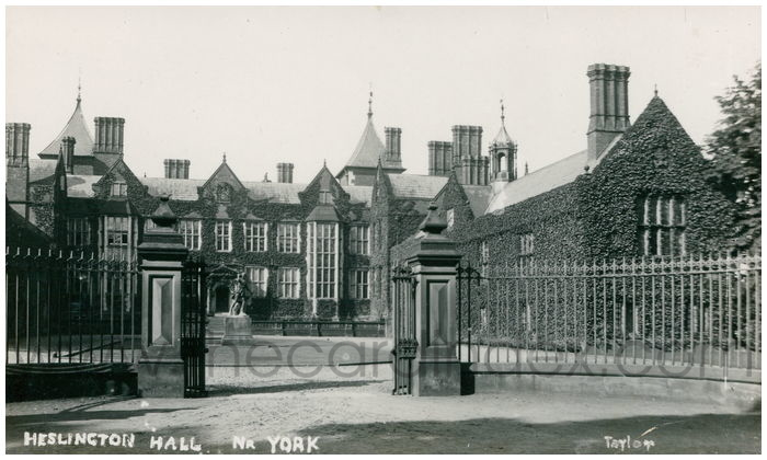 Postcard front: Heslington Hall Nr York
