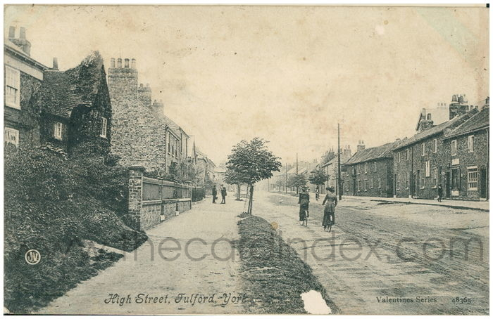 Postcard front: High Street, Fulford, York