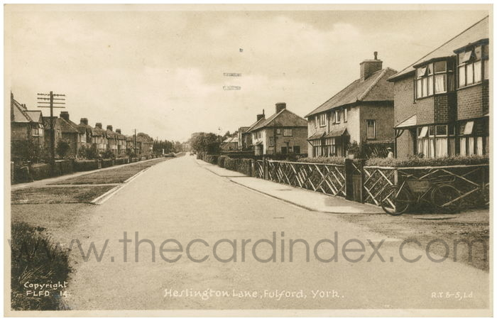 Postcard front: Heslington Lane, Fulford, York