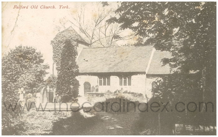 Postcard front: Fulford Old Church. York