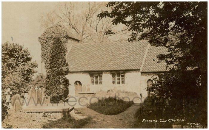Postcard front: Fulford Old Church