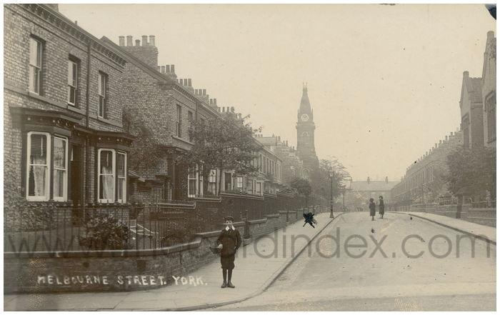 Postcard front: Melbourne Street. York