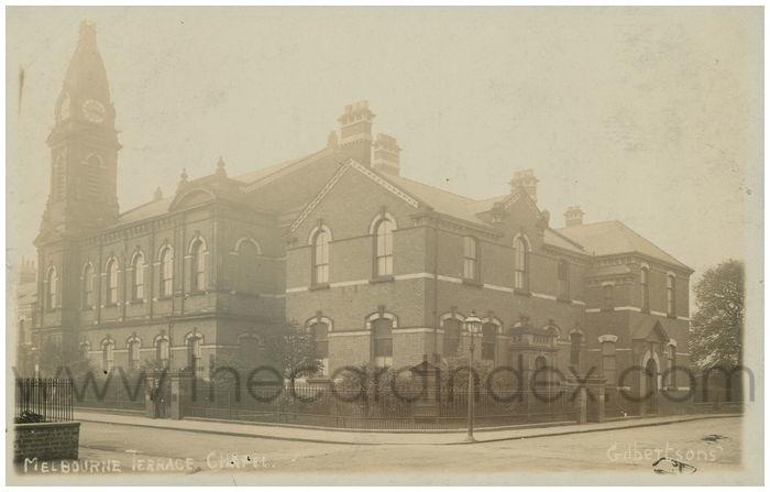 Postcard front: Melbourne Terrace Chapel