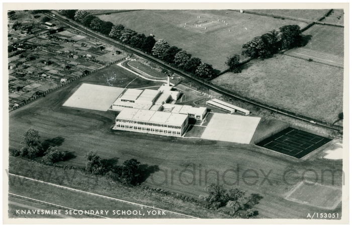 Postcard front: Knavesmire Secondary School, York