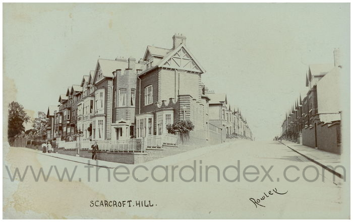 Postcard front: Scarcroft. Hill.