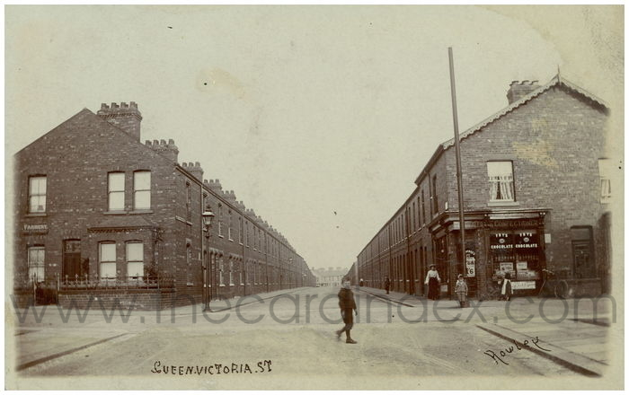 Postcard front: Queen. Victoria. St