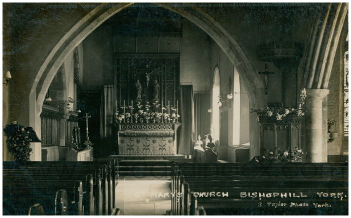 Postcard front: St. Mary's Church Bishophill York