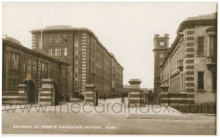 Postcard front: Entrance to Terry's Chocolate Factory, York