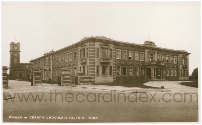 Postcard front: Offices of Terry's Chocolate Factory. York