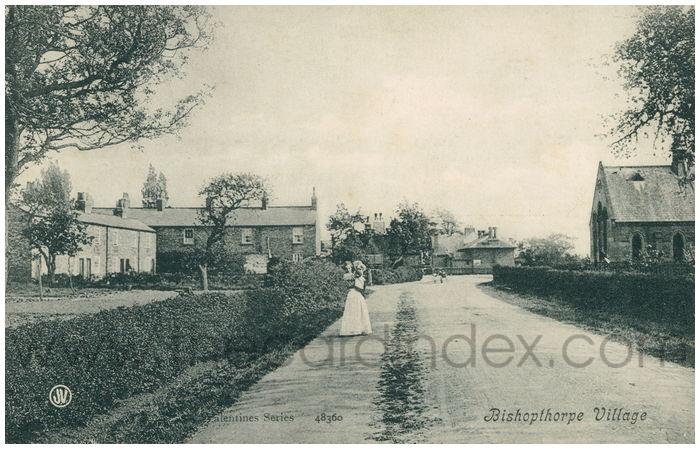Postcard front: Bishopthorpe Village