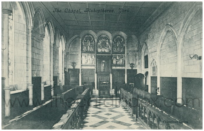 Postcard front: The Chapel, Bishopthorpe, York